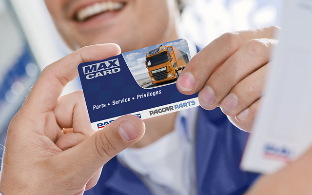 PACCAR Parts new max card